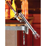 Tablecraft 9943 Heavy Duty Premium Cork Extractor, Counter Clamp, Nickel Plated