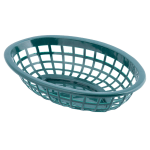 "Tablecraft 1071FG Oval Side Order Basket, 7.73 x 5.5 x 1 7/8"", Forest Green"