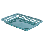 "Tablecraft 1079FG Platter Basket, 11.75 x 8.5 x 1.5"", Rectangular, Forest Green"