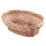 "Tablecraft 1674 Handwoven Willow Basket, 9-1/2 x 6-1/2 x 3"", Oval"