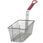 Tablecraft 427 Half Size Fryer Basket, Nickel Plated