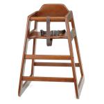 """Tablecraft 66A 29"""" Stackable High Chair w/ Waist Strap - Wood, Walnut"""