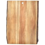 "Tablecraft ACAR1812 Display Board - 18"" x 12"", Bark-Lined Wood"