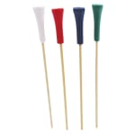 "Tablecraft BAMSP345 4.5"" Bamboo Golf Tee Pick"