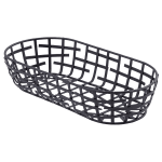 Tablecraft BC1709 Black Metal Serving Basket, 9 x 4 x 2 in