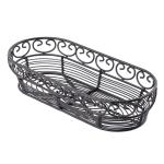 """Tablecraft BK21709 Oblong Mediterranean Collection Basket, 9 x 4 x 2"""", Black"""
