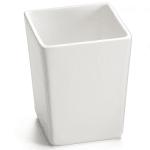 "Tablecraft CW4012W 4.75"" Square Bowl w/ 1.5-qt Capacity, White"