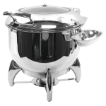 Tablecraft CW40178 11 qt Soup Chafer w/ Hinged Lid & Chafing Fuel Heat