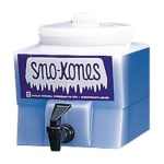 Gold Medal 1028 Sno-Kone Syrup Dispenser w/ No-Drip Faucet & Lid, White