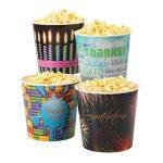 Gold Medal 1602 Gourmet Popcorn Tub w/ Black Lid, HAPPY BIRTHDAY