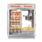 Gold Medal 1617E 120208 Astro 16 Popcorn Machine w/ Reversible Illuminated Sign, 120/208V