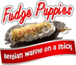 Gold Medal 1991 Fudge Puppie Poster