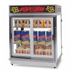 Gold Medal 2004SLDD Astro Pop Staging Cabinet w/ 2 Sliding Doors & 3 Shelf Warmers