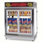 Gold Medal 2004SLN Astro Pop Staging Cabinet w/ Sliding Door & 3-Shelf Warmers, Neon Sign
