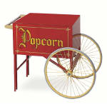 "Gold Medal 2015 Popcorn Wagon w/ 2-Spoke Wheels, Red, 20"" x 28"""
