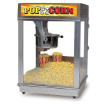 Gold Medal 2024ST Econo 16 Popcorn Machine w/ 16-oz Kettle & Red Stainless Dome, 120v