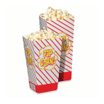 Gold Medal 2066 0.8 oz Small Scoop Disposable Popcorn Boxes, 500/Case