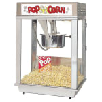 Gold Medal 2102EST Citation Popcorn Machine w/ Deluxe 16-oz Kettle & Stainless Dome, 120v