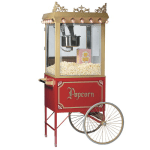 Gold Medal 2119 Antique Citation Popcorn Machine w/ 16-oz Kettle & Gold Dome, 120v