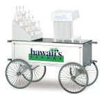 "Gold Medal 2129HF Food Cart for Shaved Ice w/ Graphics, 57""L x 26""W x 31.5""H, White"