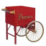 "Gold Medal 2148CR 20"" Popcorn Cart w/ 2-Spoke Wheels, Red"