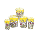 Gold Medal 2170PC 170 oz Popcorn Design Disposable Popcorn Butter Tubs, 150/Case