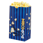 Gold Medal 2209 85 oz Blue Disposable Popcorn Bags - Laminated, Blue