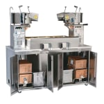 Gold Medal 2220E 120208 36-oz Twin Maxi Plant Popcorn Popper w/ 3-min Popping Cycles, 120/208V