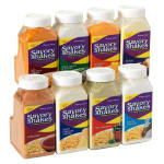 Gold Medal 2366S 18-oz Savory Shakes Bottle Plastic w/ Handle, Cheddar Cheese, 4/Case