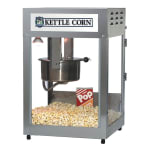 Gold Medal 2552KC Kettle Corn Pop Maxx Popcorn Machine, 12/14 oz Kettle, Stainless Dome, 120v