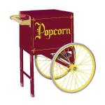 Gold Medal 2659CM Popcorn Cart w/ 2-Spoke Wheels, Maroon