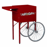 Gold Medal 2669CR Ultra 60 Special Cart w/ Storage Compartment & 2-Spoke Wheels, Red