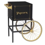 Gold Medal 2689BKG Fun Pop Cart for 8 oz Popper Machine w/ Rear Access Door, Black