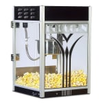Gold Medal 2854 8 oz Retro Popcorn Machine w/ Etched Glass & Black Dome, 120/240v