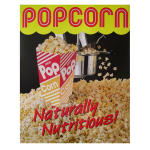 Gold Medal 2988L Popcorn Poster, Natural and Delicious, Laminated