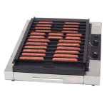 Gold Medal 8160F Flat Grilla Reciprocating Grill w/ 36-Hot Dog Capacity & EZ Kleen Surface