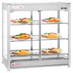 "Skyfood HMC-PT 31.5"" Self-Service Countertop Heated Display Case - (3) Shelves, 120v"
