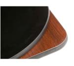 "Oak Street COMBM30R-STD 30"" Round Pedestal Table - Dining Height, Reversible Mahogany/Black Surface"
