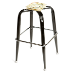 Oak Street SL2133-BOTTOM Replacement Bar Stool Frame w/ Single Chrome Ring Base, Black