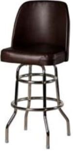 Oak Street SL3134-ESP Swivel Bar Stool w/ Double Ring & Espresso Vinyl Foam Bucket Seat
