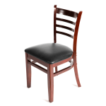 Oak Street WC101MH Beech Frame Dining Chair w/ Ladder Back, Mahogany