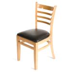 Oak Street WC101NT Beech Frame Dining Chair w/ Ladder Backt, Natural