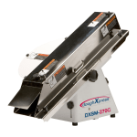 DoughXpress DXSM-270CE Compact Adjustable French Bread Slicer For Full & Hinge Cut, 220 240/1