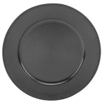 """Walco TRB6655 13"""" Round Charger Plate - Polypropylene, Black"""