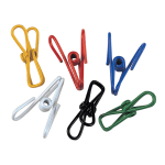 "Focus 799 Everything Clips, 2 - 1/4""L, Assorted Colors, 12 per Bag"