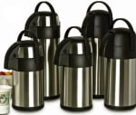 Focus 908830PB 3-Liter Vacuum Insulated Air Pot w/ Push Button, Stainless
