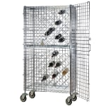 "Focus FDMWR2448CH 63""H Commercial Wine Rack w/ (192) Bottle Capacity, Chrome"