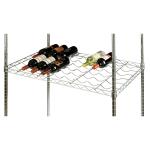 Focus FDWS2436CH Commercial Wine Shelf w/ (18) Bottle Capacity, Chrome