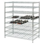 "Focus FDWSK3674CH 74""H Commercial Wine Rack w/ (216) Bottle Capacity, Chrome"