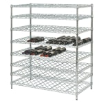 "Focus FDWSK4854CH 54""H Commercial Wine Rack w/ (192) Bottle Capacity, Chrome"